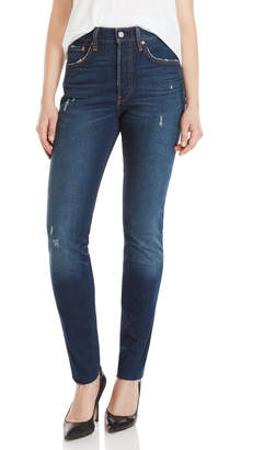 Levi's 501 High-Rise Distressed Skinny Jeans
