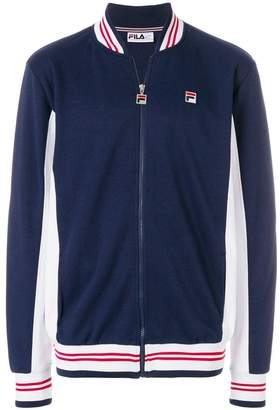 Fila colour-block zipped sweatshirt
