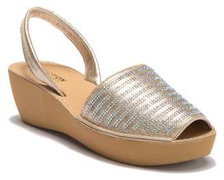 f07a2b85dce6 Kenneth Cole Reaction Gold Wedge Women s Sandals - ShopStyle