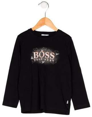 HUGO BOSS Boss by Boys' Long Sleeve Printed Shirt