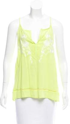 Ella Moss Embroidered Sleeveless Top