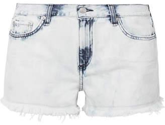 Rag & Bone Frayed Denim Shorts - Sky blue