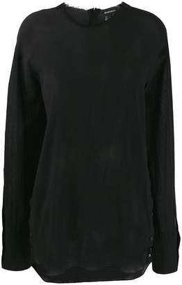 Ann Demeulemeester longline sheer shirt