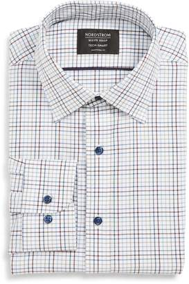 Nordstrom Tech Smart Traditional Fit Check Stretch Dress Shirt