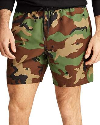c61777b1da Polo Ralph Lauren Traveler Embroidered Camouflage-Print Swim Trunks