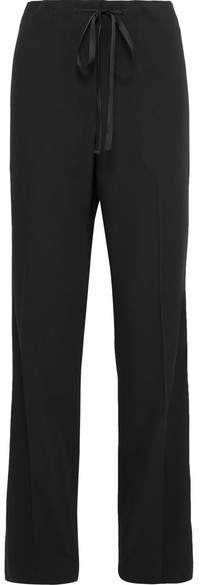 Wool-gabardine Pants - Black