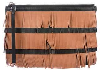 Proenza Schouler Fringe Leather Zip Pouch