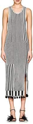 Altuzarra Women's Lutetia Striped Rib-Knit Midi-Dress