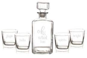 Cathy's Concepts Oh What Fun Five-Piece Decanter Set
