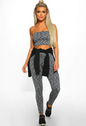 Pink Boutique Play No Games Grey Leggings Co-Ord