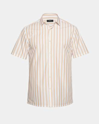 Theory Striped Standard-Fit Short-Sleeve Shirt