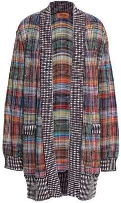 Missoni Crystal-embellished Checked Cotton-blend Cardigan