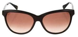 Diane von Furstenberg Tinted Round Sunglasses
