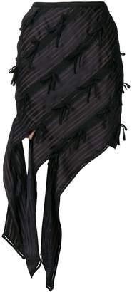 Self-Portrait asymmetric bow skirt
