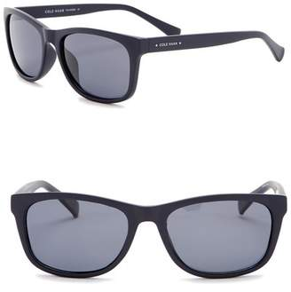 Cole Haan Polarized 55mm Rectangle Sunglasses