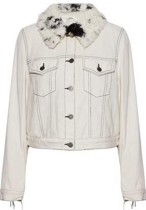 3.1 Phillip Lim Faux Shearling-Trimmed Denim Jacket
