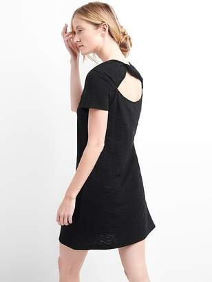 Gap Short sleeve slub twist-back dress