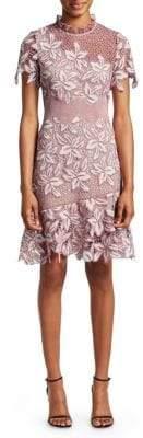 Sea Mosaic Floral Crochet Dress