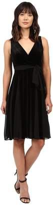 Adrianna Papell Surplus Midi Velvet Spliced Carwash Dress Women's Dress
