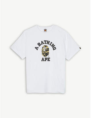 A Bathing Ape Camouflage-print cotton T-shirt 4-8 years
