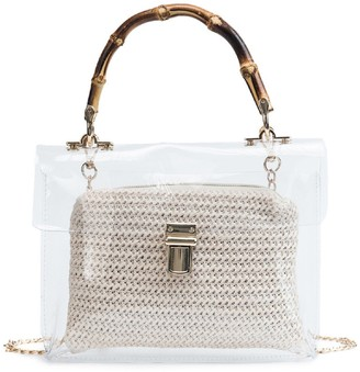 Goodnight Macaroon 'Unnie' Bamboo Handle Transparent Bag (3 Colors)