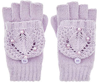 Monsoon Maria Lilac Crochet Capped Gloves