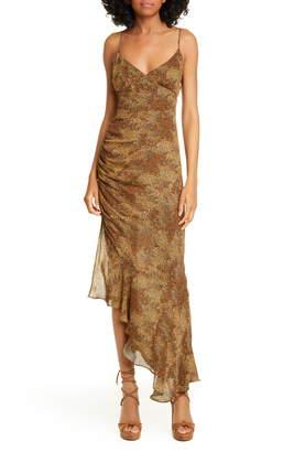 Nicholas Asymmetrical Hem Silk Dress