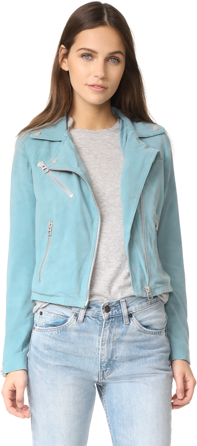Doma Doma Who Cropped Suede Moto Jacket