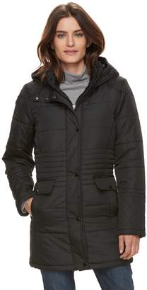 KC Collections Women's Quilted Hooded Walker Jacket