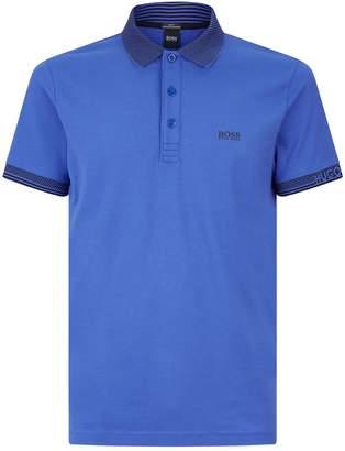 BOSS Jacquard Stripe Polo Shirt