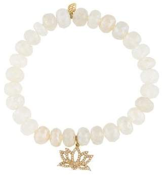 Sydney Evan 14K Moonstone & Diamond Bead Bracelet