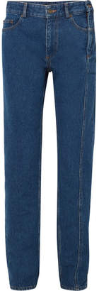 Y/Project High-rise Straight-leg Jeans - Dark denim