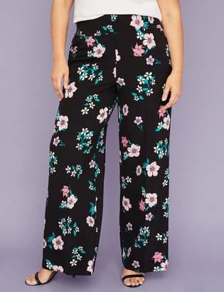 Allie Wide Leg Pant - Floral Crepe