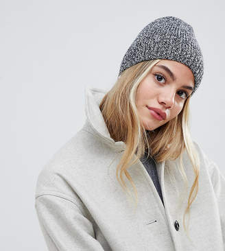 My Accessories gray knitted beanie hat