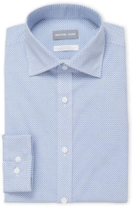 Michael Kors Printed Slim Fit Dress Shirt