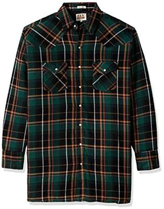 Ely & Walker Men's Size Long Sleeve Quilted Flannel Shirt Jacket
