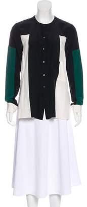 Elizabeth and James Silk Colorblock Tunic