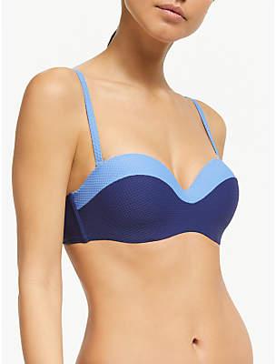 John Lewis & Partners Paradise Lost Colour Block Bandeau Bikini Top