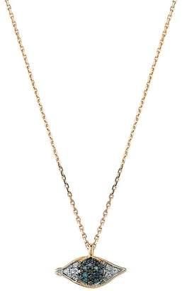 Bee Goddess Rose Gold and Diamond Eye Light Necklace