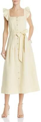 Rebecca Taylor Drop-Pleat Midi Dress
