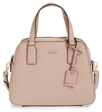 Kate Spade New York Cameron Street - Little Babe Leather Satchel - Beige