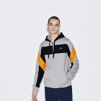 Lacoste Men's SPORT Hooded Zip Colorblock Tennis Sweatshirt