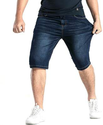 Allonly Men's Fashion Casual Slim Fit Stretch Denim Jean Short Plus Size Big and Tall
