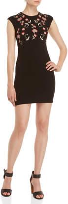 Desigual Black Floral Sheath Dress