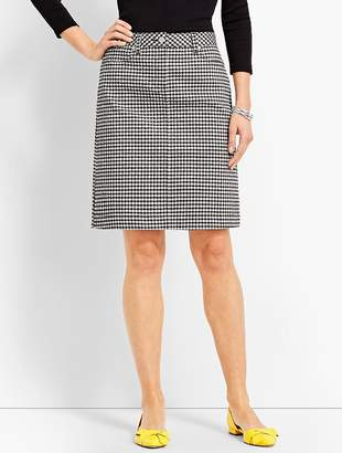 Talbots Denim Pencil Skirt - Gingham