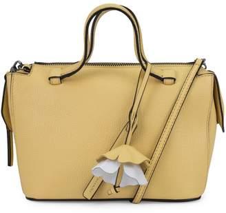 T Tahari Small Kyla Leather Satchel Bag