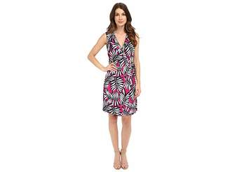 Laundry by Shelli Segal Palm Reader Sleeveless Wrap Dress Women's Dress