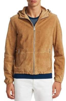 Michael Kors Suede Hooded Jacket