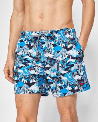Ted Baker KARNER Mountain print swim shorts