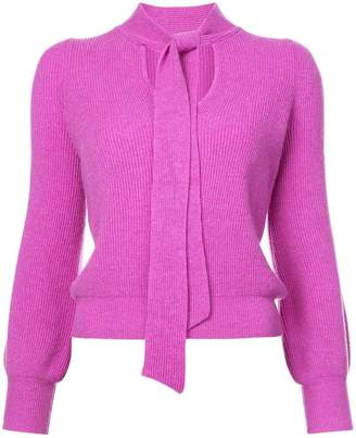 Co neck-tied fitted sweater